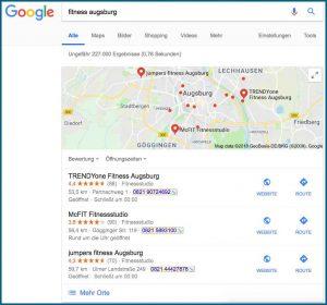 Verbesserung des Google Rankings Local