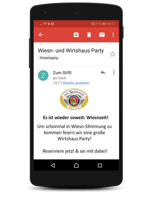 E-Mail Newsletter Aktion