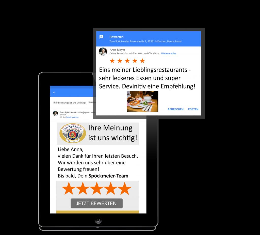 Google Bewertungen sammeln