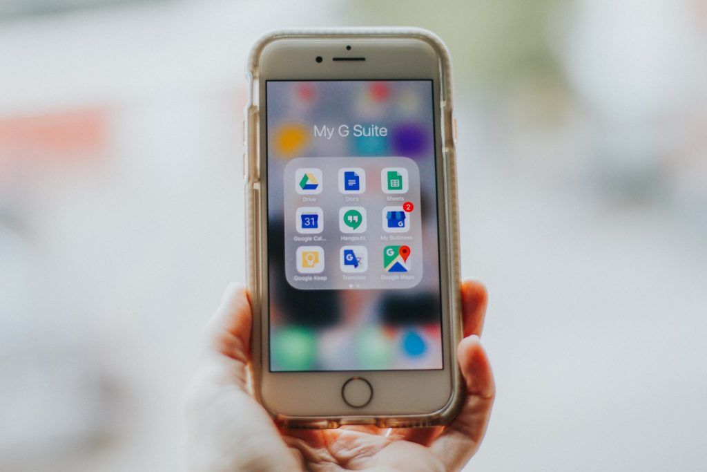 Google Apps auf einem Smartphone