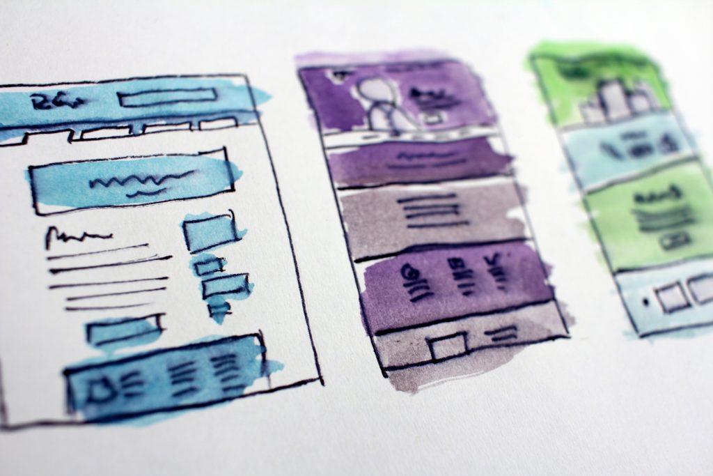 Skizze einer Website