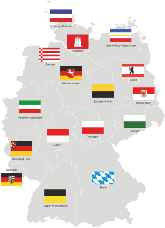 Bundesländer mit Wappen