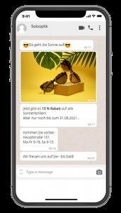 Messenger Dienste Optiker