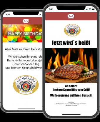 Socialwave Marketing E-Mails Gastronomie